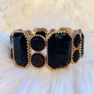 Jewelry - Black + Gold Statement Bracelet ✨